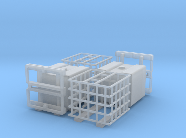 IBC Water Tank 1100 Parted 2 pack 1-50 Scale 3d printed