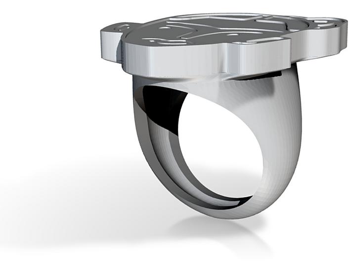 frida kahlo ring 3d printed