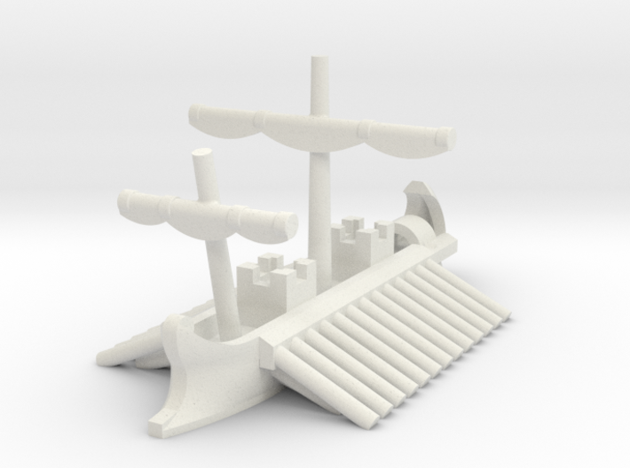 1/1200 Roman Tower Trireme Game Pieces 3d printed