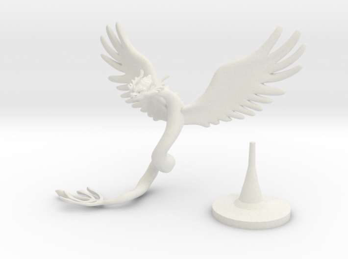 Couatl (updated) 3d printed