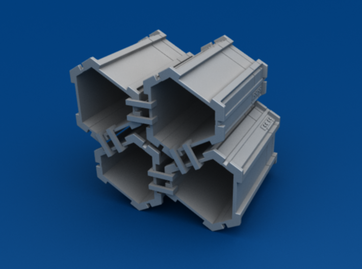 4-Pack of Star Wars Loot Crate Wargaming Terrain 3d printed Hollow shell to save print costs