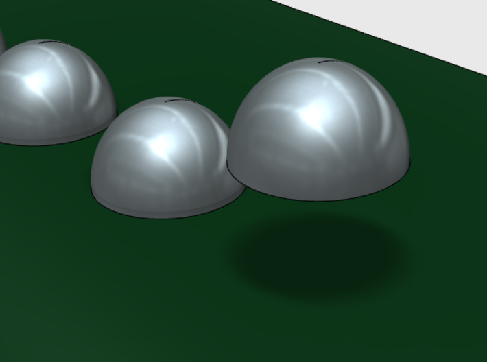 1.6 mm Rivet Heads -Variety Pack 3d printed