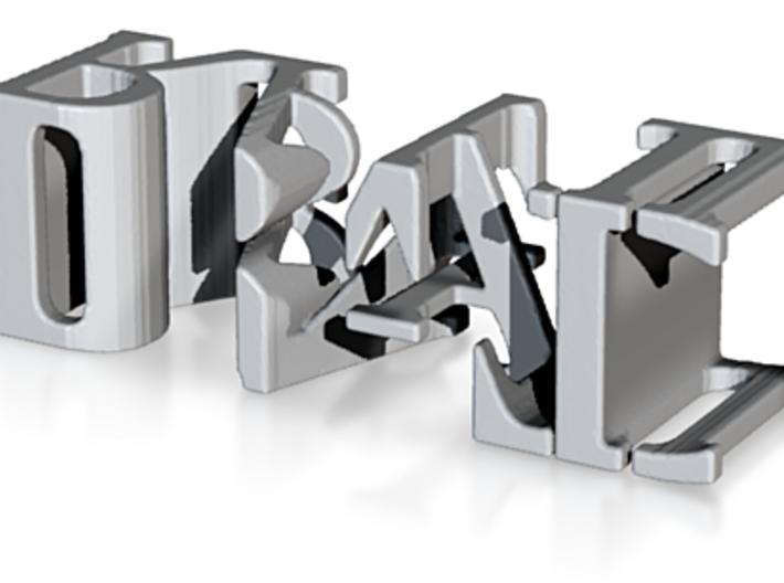3dWordFlip: IBAD/RAHIL 3d printed