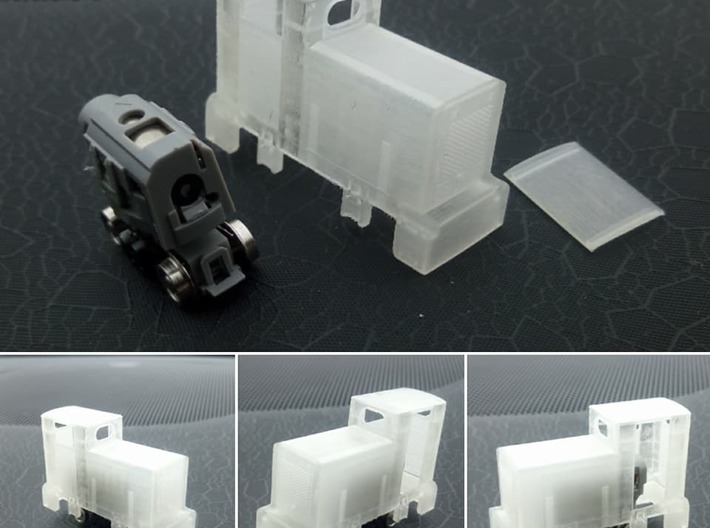 009 Orenstein & Koppel MD2 Locomotive 3d printed Kit, showing cab roof removed and donor chassis.