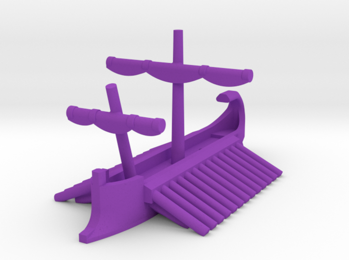 1/1200 Carthaginian Trireme Game Pieces 3d printed