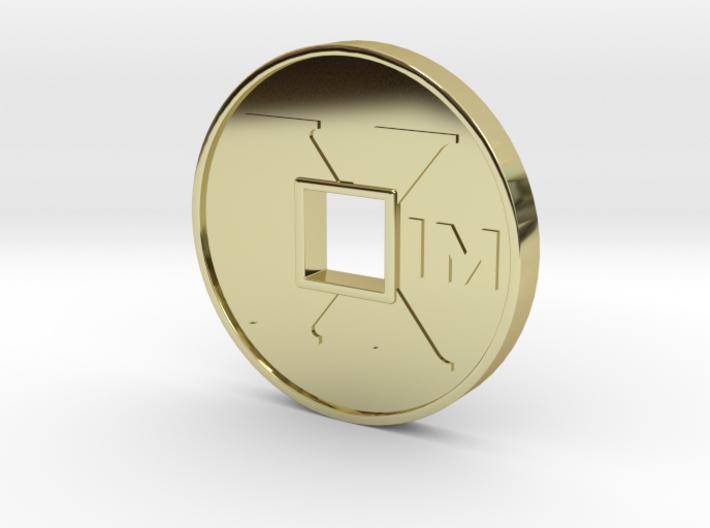 XIM Coin 3d printed XIM coin 18k gold