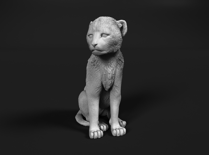 Cheetah 1:64 Sitting Cub 3d printed