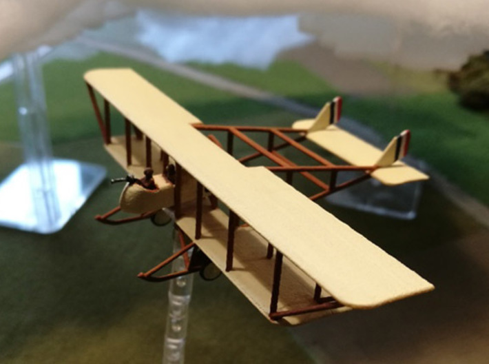 "Maurice Farman MF.11 ""Shorthorn"" (various scales) 3d printed Paint job and photo courtesy mikeemagnus @ wingsofwar.org"