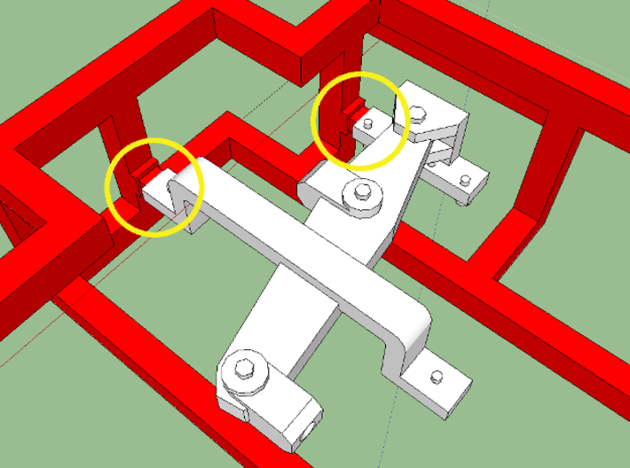 """HO AB Brake System Kit WITHOUT Regulator 3d printed Note the thin sprue """"gates"""" that aid in freeing the brake levers-- these can be used to index a blade."""