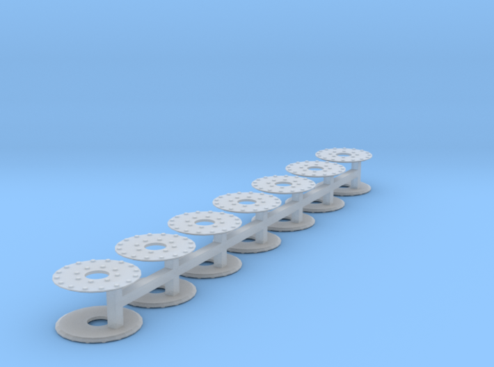 "HO scale 14pc 33"" Allen Paper Wheel Inserts 3d printed"