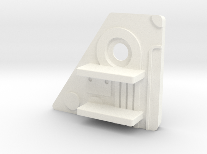 Starcom F-1400 Starwolf Missile Rack Adapter (LH) 3d printed