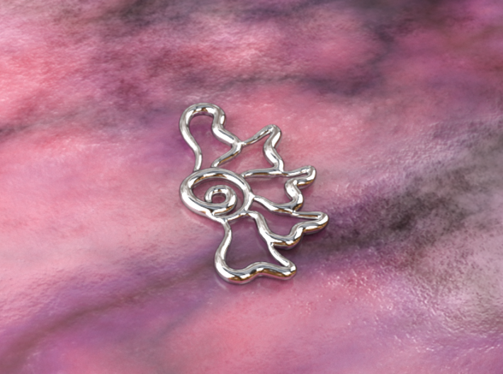 Flower ghost 3d printed silver material