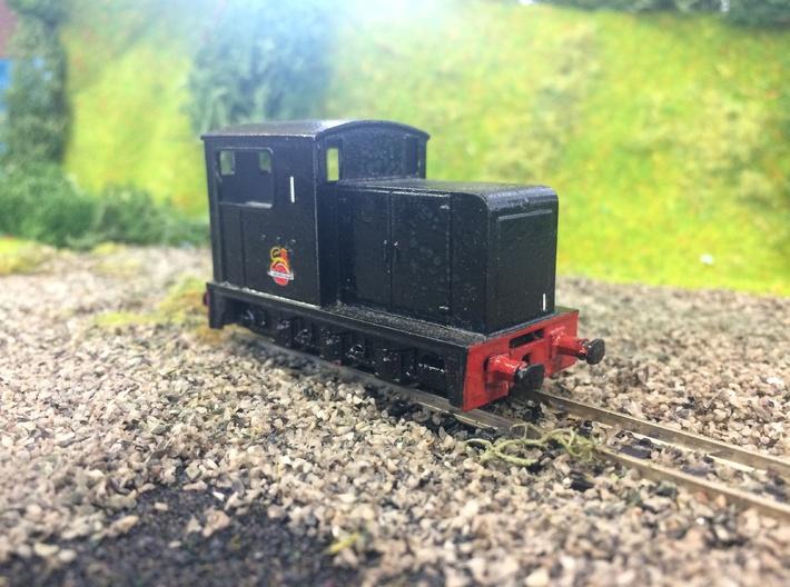 009 Kerr Stuart Diesel 6wD body - for Roco Diesel 3d printed Painted British Railways example