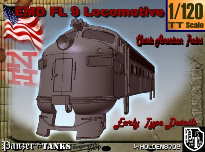 1-120 EMD FL 9 Locomotive 3d printed
