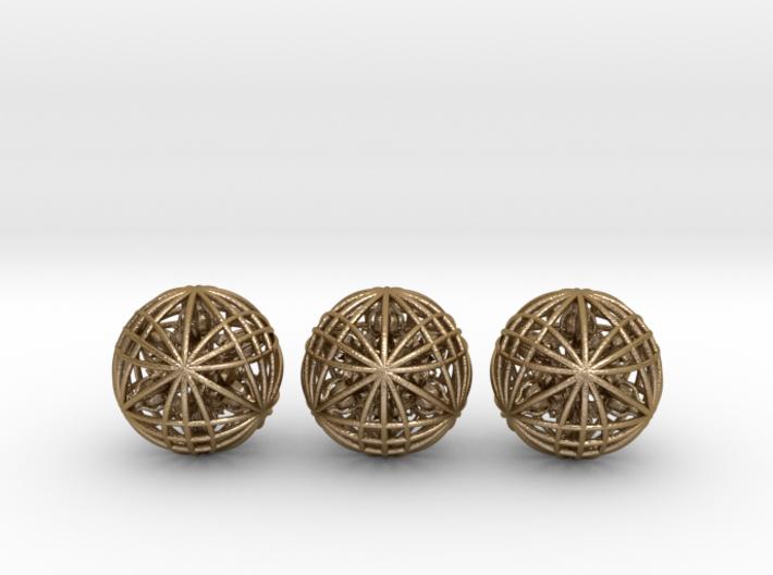 "Three Awesomeness Juggling Balls (3x2.5"") 3d printed"