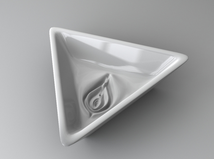 Triangular Vagina Ritual Bowl 3d printed Visualization of Bowl
