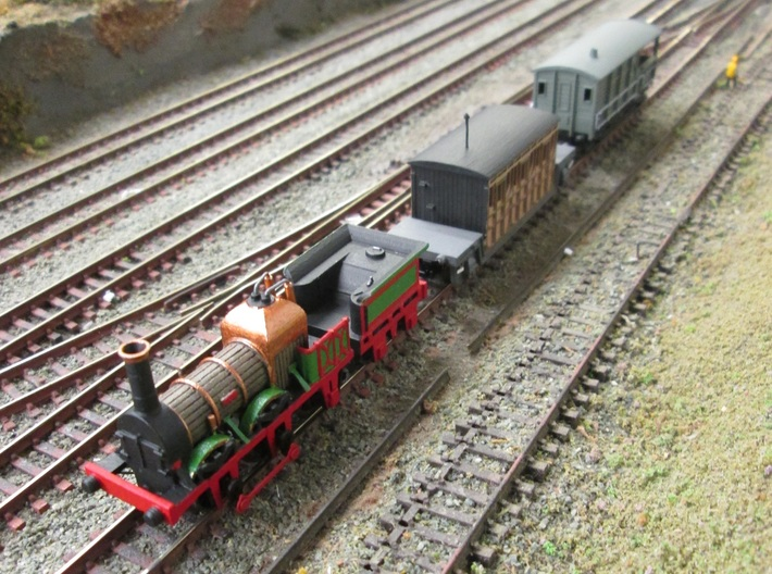 N Gauge Lion (Titfield Thunderbolt) Loco 3d printed The complete 'Titfield Thunderbolt' (coach separately available)