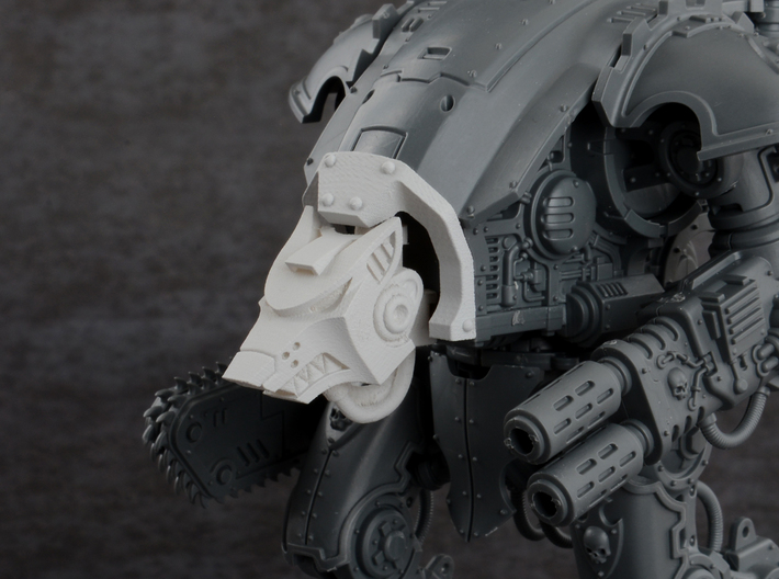 Wolf Cowl for Imperial Knight Armiger Warglaive 3d printed
