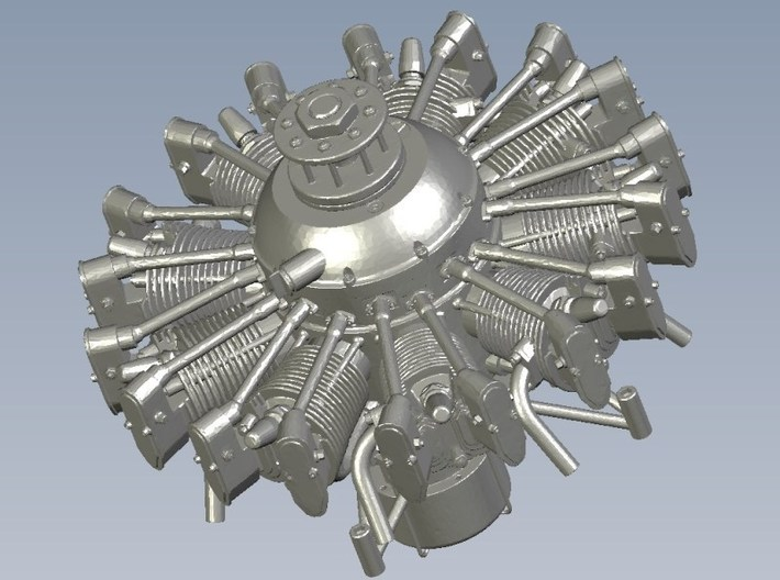 1/16 scale Wright J-5 Whirlwind R-790 engine x 1 3d printed