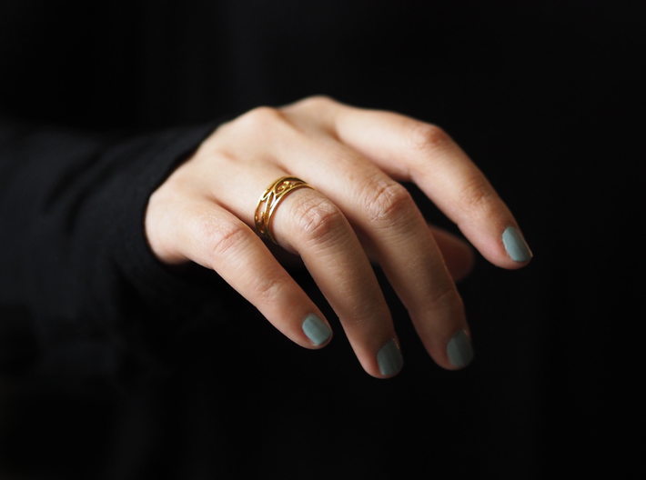 Delicate Ivy Ring 3d printed