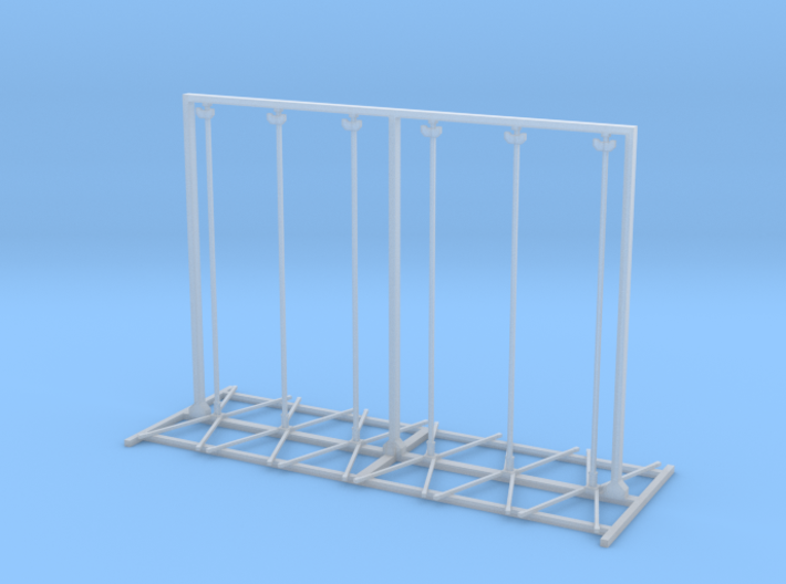 Twin Flex Rigid And Roll Up Sign Stand 1-87 HO Sca 3d printed