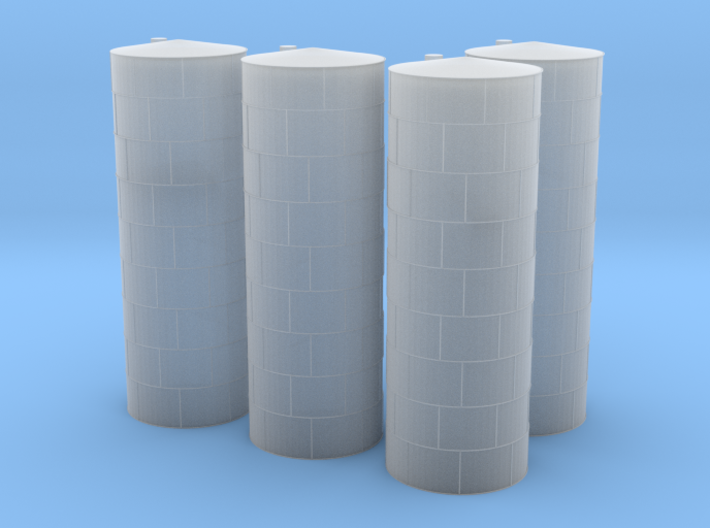 Vertical Fuel or Chamical Tanks 3d printed