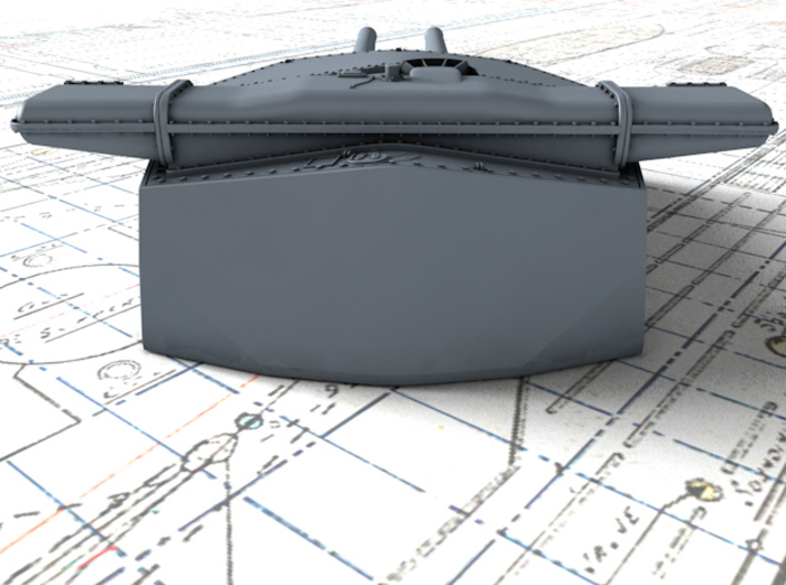 "1/600 HMS Hood 15"" (38.1 cm) Mark II Turrets 1920 3d printed 3d render showing B Turret detail"