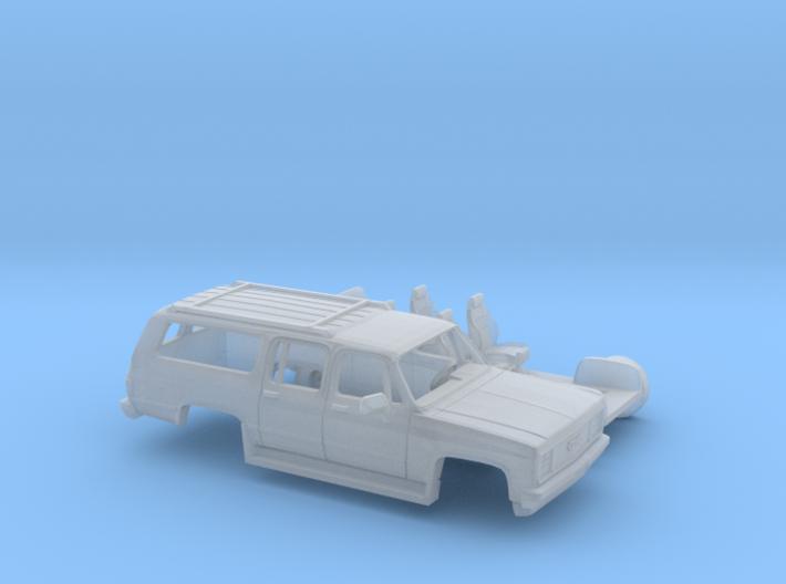 1/87 1989-91 GMC Suburban Split Rear Door Kit 3d printed