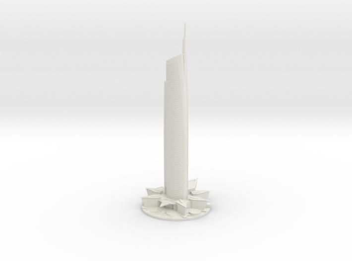 Almas Tower (1:1800) 3d printed