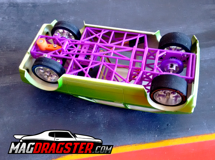 MagDragster [MD-Golf01] Golf Mk1 RC Car / Slot Car 3d printed MagDragster Chassis