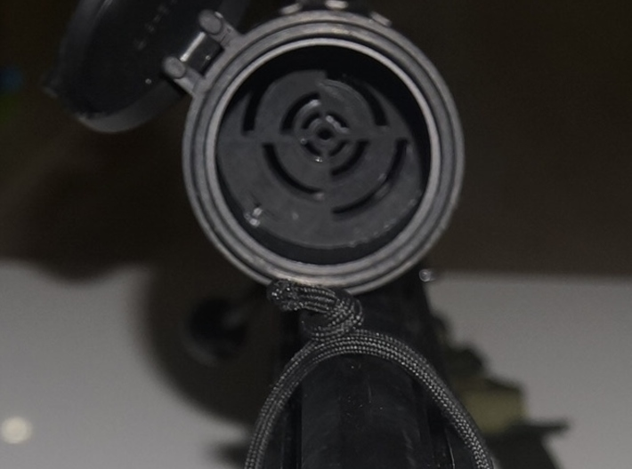 40mm-scope-protector-5mm-thick 3d printed Sample of installed Lens Protector