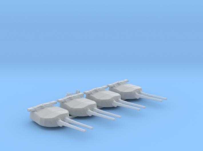 "1/600 HMS Hood 15"" Mark II Turrets 1941 B. Bags 3d printed 1/600 HMS Hood 15"" Mark II Turrets 1941 B. Bags"