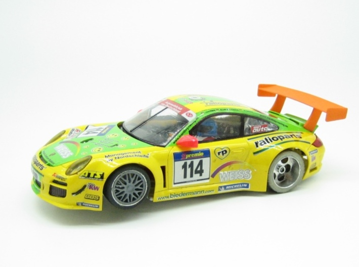PSNS00201 rear wing for NSR Prsche 997 GT3 3d printed