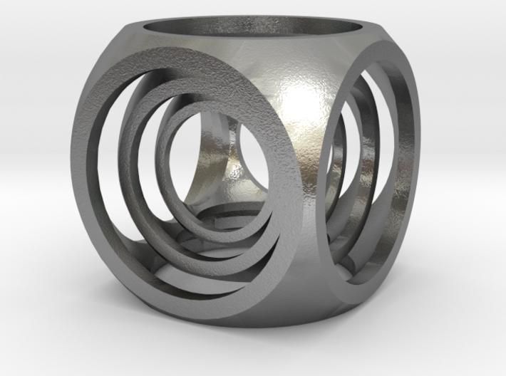 Captive Cubes Pendant 3d printed