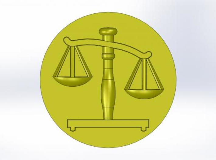 Scales of Justice Seal 3d printed This is what the wax will look like
