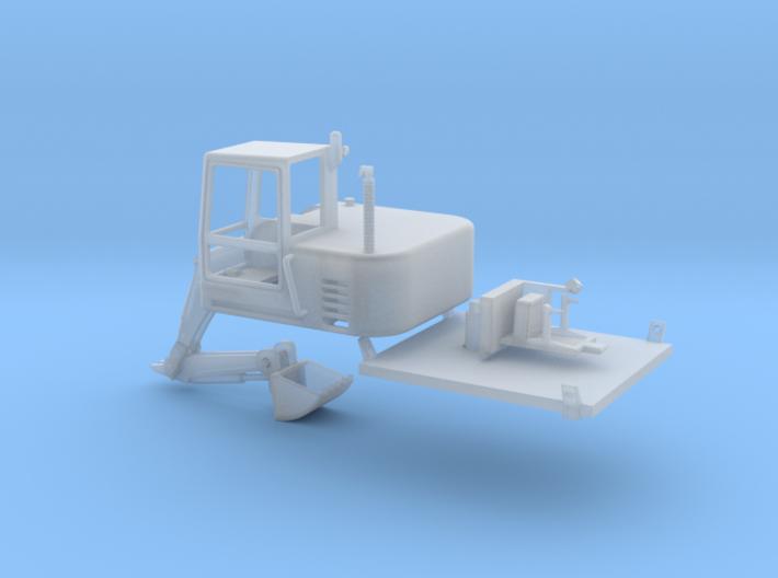 Snowcat Track Machine Excavator 1-87 HO Scale 3d printed