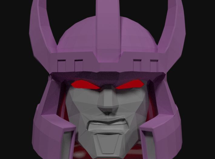 Galvatron TR Head 3d printed