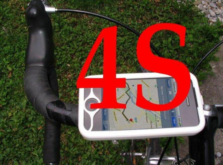 """iPhone 4S bike mount assembly 1"""" 3d printed"""