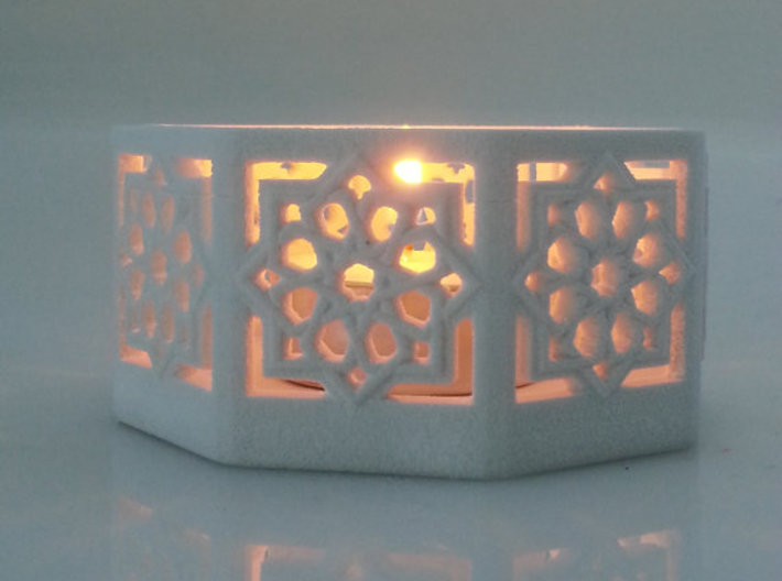Islamic Star Knot Candle Lantern 3d printed