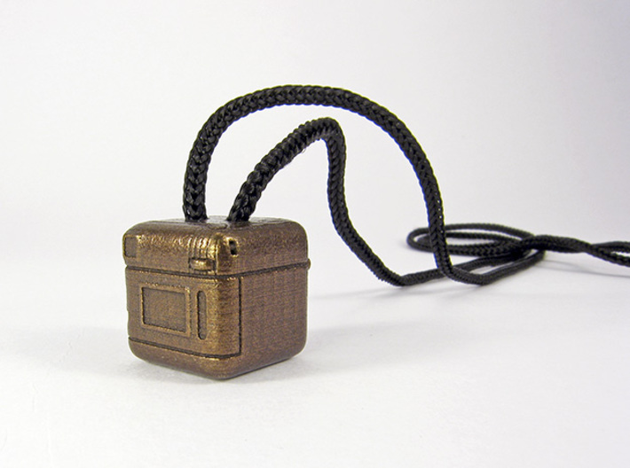 Instagram Style Camera (Pendant 20mm) 3d printed 20mm - Polished Bronze Steel