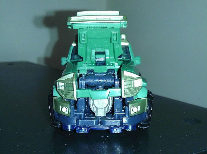 KUP homage Ironside for TF Prime Ironhide  3d printed Ironside Head placement in TF Gen. Kup Alt Mode