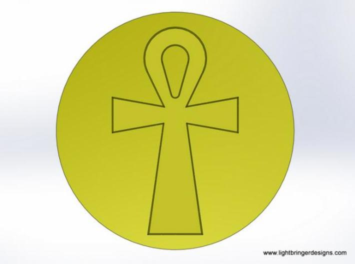 Ankh Wax Seal 3d printed What the wax will look like