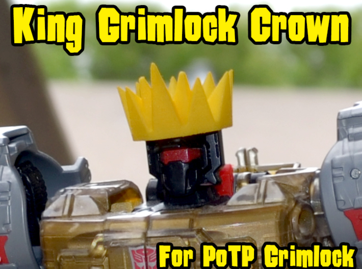 Grimlock Crown for Power of the Primes 3d printed