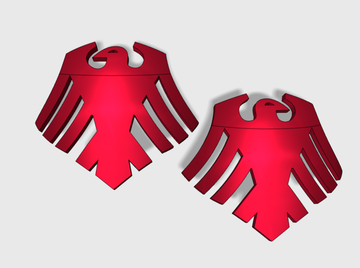 60x Red Ravens : Shoulder Insignia pack 3d printed