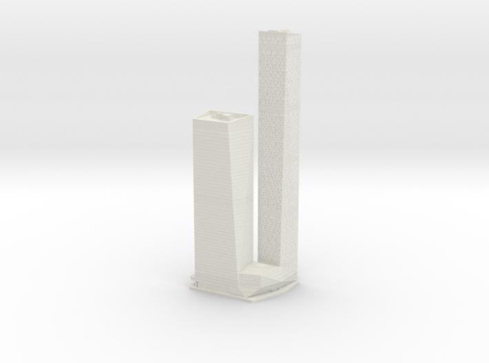 OKO Towers (1:2000) 3d printed