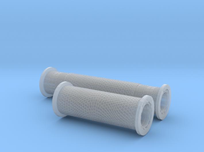 SET 2x All-in-1 Roller  (N 1:160 - TT 1:120) 3d printed