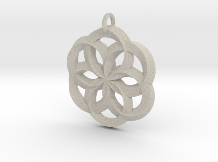 Spirit of Water Pendant 3d printed
