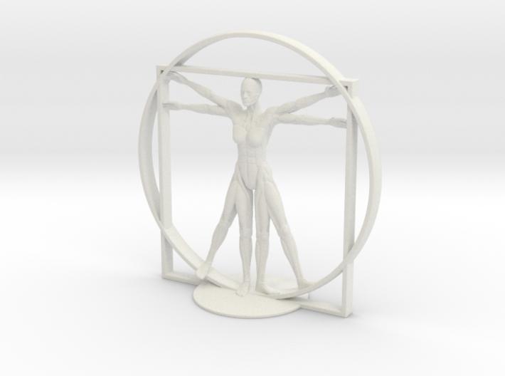 Vitruvian Robotic Woman 3d printed