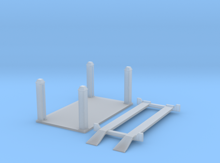 Four post car lift (N 1:160) 3d printed