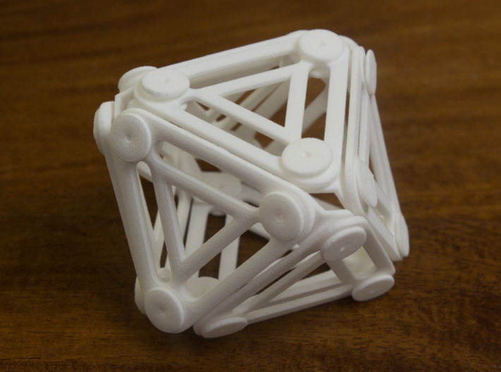 Jointed Jitterbug a.k.a Cuboctahedron a.k.a Vector 3d printed Collapsed 3